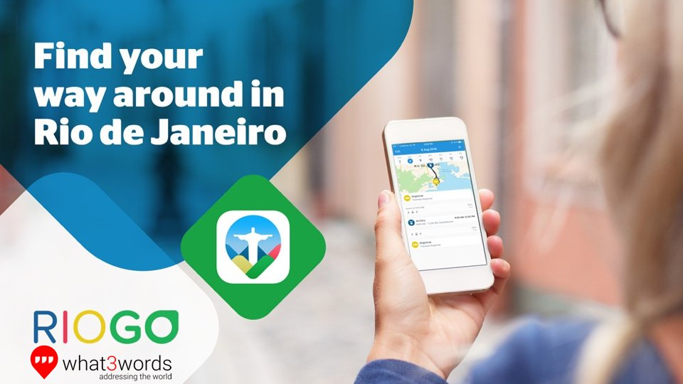 Find your way around Rio with RioGo and What3Words
