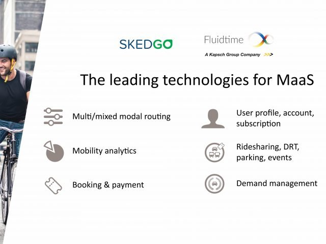 Fluidtime and SkedGo lead MaaS industry to next level at ITS European Congress